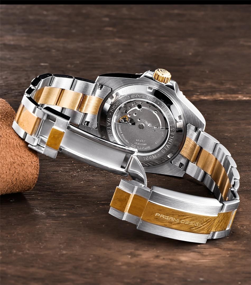 Hb85eae1c56934cc49e914f971b5b9e74m PAGANI2019 Design Brand Luxury Men Watches Automatic Black Watch Men Stainless Steel Waterproof Business Sport Mechanical