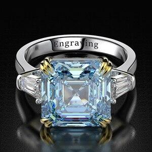 Image 4 - Wong Rain 100% 925 Sterling Silver Created Moissanite Citrine Diamonds Gemstone Wedding Engagement Ring Fine Jewelry Wholesale