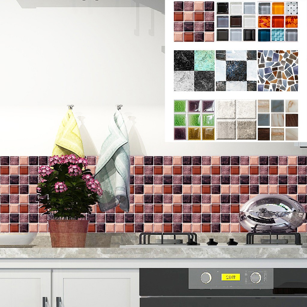 Flooring Tiles Peel And Stick Mosaic Wall Tile Self Adhesive Backsplash Kitchen Wall Stickers Home Garden Mbln Org