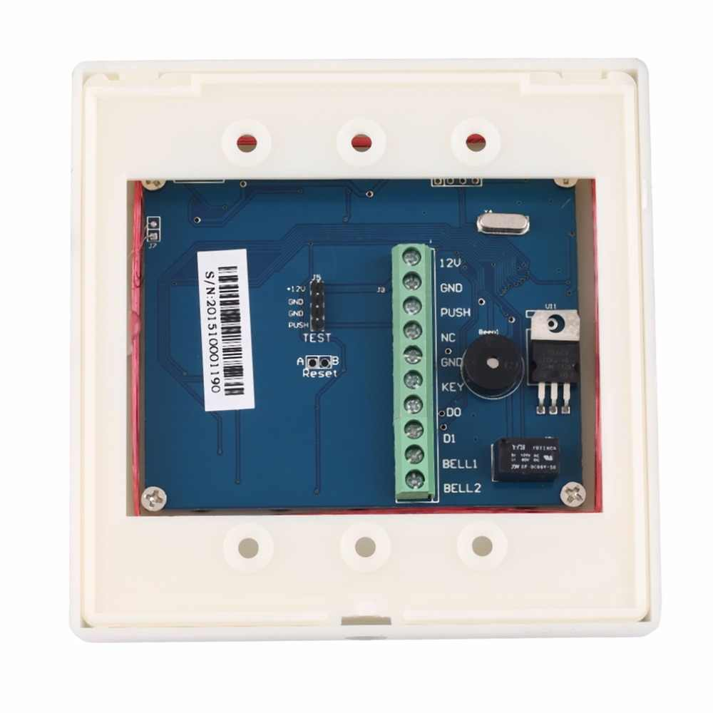 LESHP ระบบรักษาความปลอดภัยอิเล็กทรอนิกส์ RFID ระบบควบคุมการเข้าออกประตู + 10 Key Fobs รหัสผ่าน Access Control ประตูเปิด