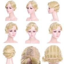 LVHAN, большая волна, короткие вьющиеся волосы, парик, жаростойкий, женский, золотой, высокая температура, волоконный парик для женщин