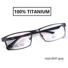 Мужские оправы для очков из чистого титана, большие черные/коричневые/серые