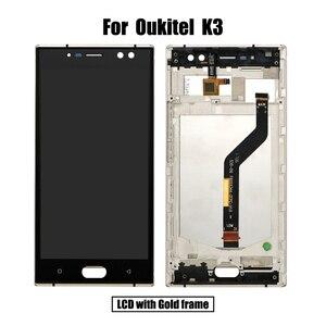 Image 4 - BingYeNing 5,5 pulgadas para Oukitel K3 LCD y Digitalizador de pantalla táctil con marco de pantalla accesorios de teléfono herramientas de repuesto de montaje
