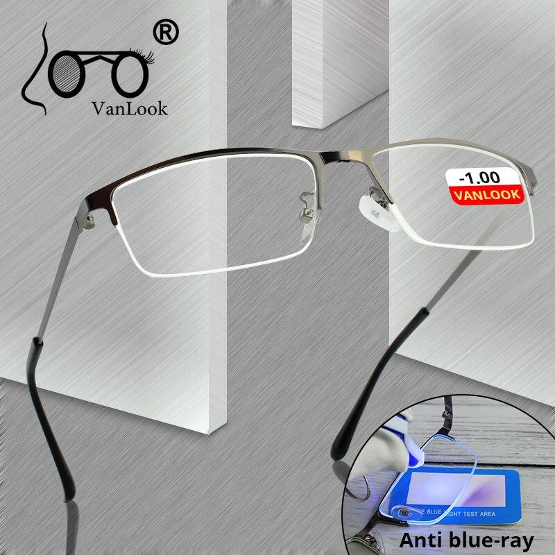 Blue Light Blocking Myopia Computer Glasses Gamer Spectacle Frame For Men Women Nearsighted Eyeglasses Prescription -1 -1.5 -2