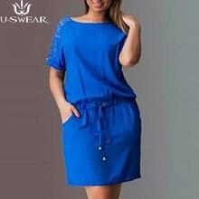 Женское платье с вырезом на спине 5XL размера плюс, летнее кружевное прямое платье с вырезом на спине, элегантные сексуальные платья, женская ...