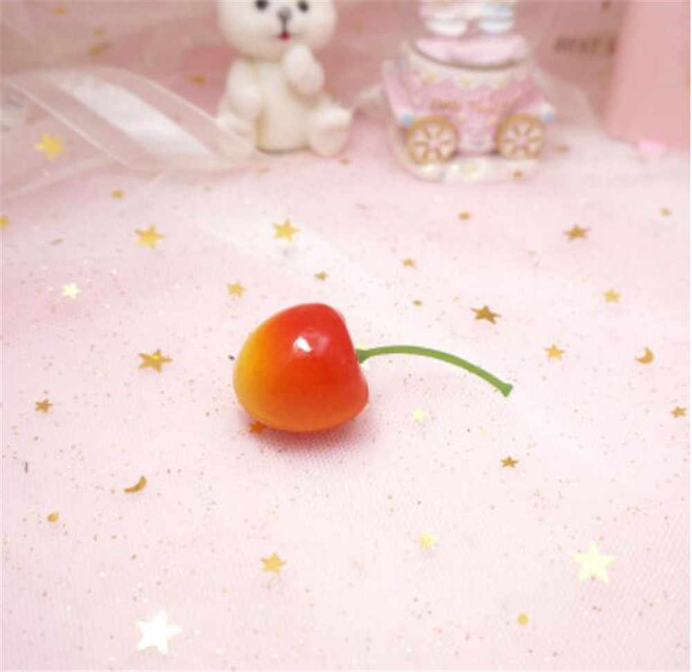 달콤한 소녀 체리 딸기 헤어 클립 로리타 여성 카와이 헤어핀 머리 장식 코스프레 사이드 클립 B962