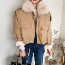 Женские Толстые Куртки из искусственной кожи Зимние Повседневные