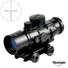 Bestsight 3 5X30 Tactical czerwony zielony niebieski luneta celownik optyczny luneta celownicza luneta z 20mm do montażu na szynie tanie tanio Karabin Obiektyw