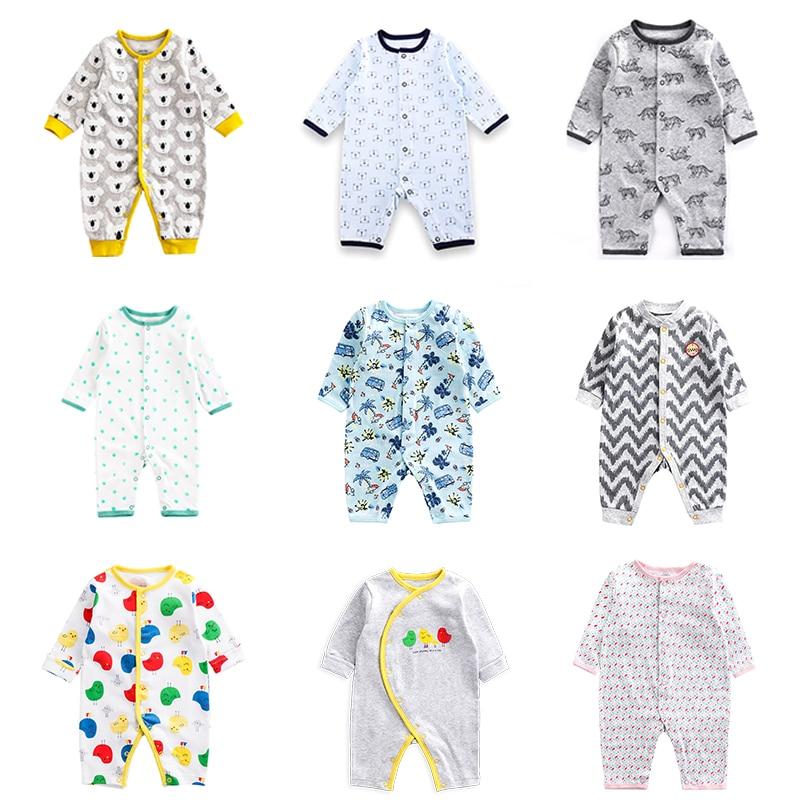 Боди для новорожденных малышей весна-осень тонкий стиль Летняя одежда с длинным рукавом для младенцев Кондиционер