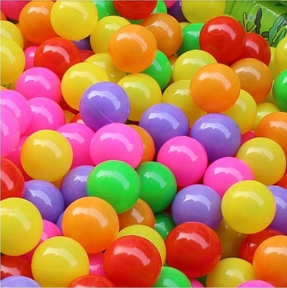 50 Pcs/lot Eco-Friendly Colorful Ball Soft Plastic Ocean Ball Funny Baby Kid Swim Pit Toy Water Pool Ocean Wave Ball Dia 4-5.5 C