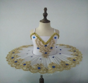 Image 3 - Ballerine Femme, Золотое кружево, классическое, для взрослых, для детей, профессиональное балетное платье пачка, голубое платье, танцевальный костюм для детей
