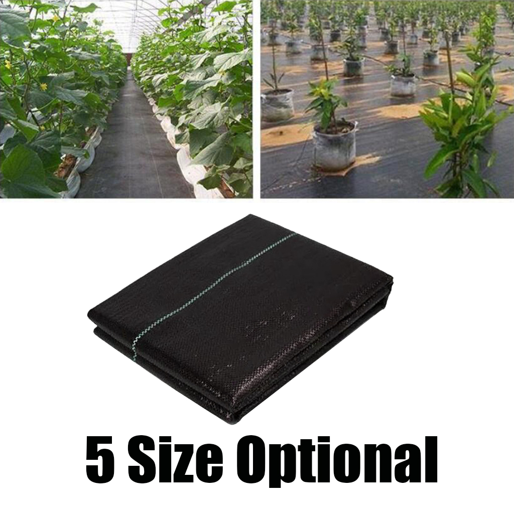 Black Weed Barrier Blocker Landscape Fabric with Grid Strips Eco-Friendly