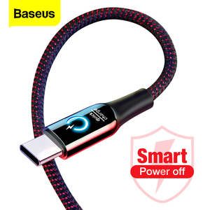 Image 1 - Baseus 3A Smart Power Off USB Type C Cable Quick Charger Type c Cable For Samsung S10 S9 Note 10 Oneplus 7 6t 6 USB C USBC Cable