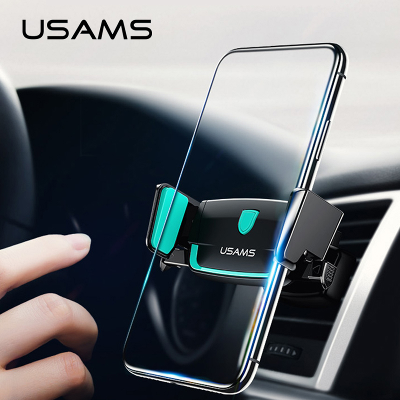 Car Phone Holder,USAMS Phone Car Holder Stand 360 Rotation Air Vent Mount Mobile Phone Holder For Phone Xiaomi 6 Samsung S8 S9