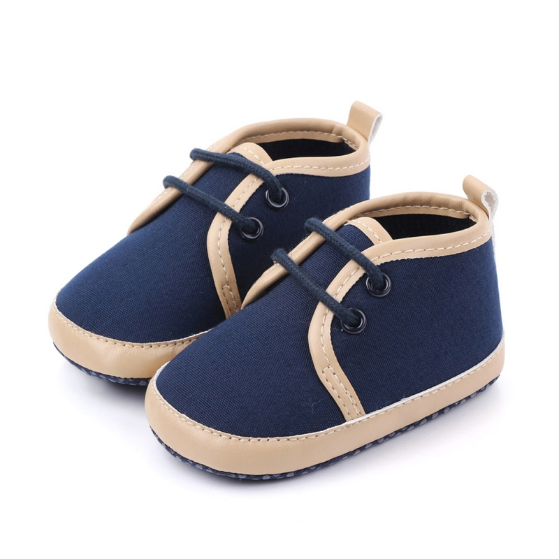 Toddler Infant Baby Boy Shoes Spring Canvas Newborn Boys Girls Soft Soled Casual Crib Shoes Prewalker Solid Patchwork Shoes