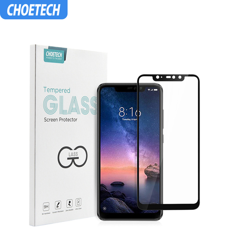 For Redmi Note 6 Pro Screen Protector 9H Tempered Glass Protective Film Cover For Xiaomi Redmi 6A Pocophone F1 Mi 8 Lite-in Phone Screen Protectors from Cellphones & Telecommunications