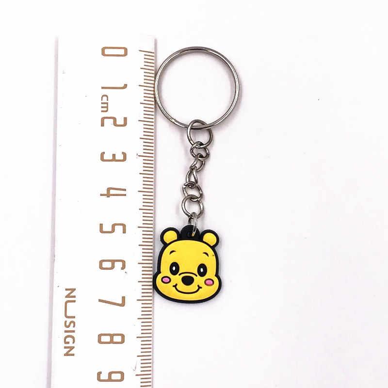 8 Pcs Grosir Cute Stitch Ikon Kartun Gantungan Kunci PVC Lembut Kain Gantungan Kunci Hadiah Pesta Aksesoris Ransel Gantungan Kunci