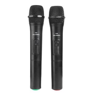 Image 2 - 2pcs Smart Wireless Handheld Microphones Mic With USB Receiver Sound Audio Amplifier For Karaoke Singing Android Smart TV Box