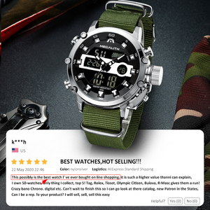 Image 2 - Relogio Masculino MEGALITH الرياضة مقاوم للماء الساعات الرجال مضيئة شاشة إنذار مزدوج العلامة التجارية الفاخرة ساعة كوارتز بالجملة 8051