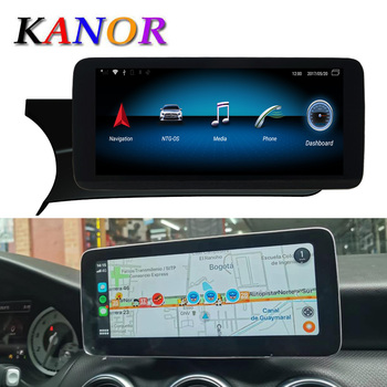 "Kanor 10.25"" 4 + 64G Display Android 10.0 for Mercedes Benz C Class W204 W205 Car Radio Screen with Gps Navigation Bluetooh"