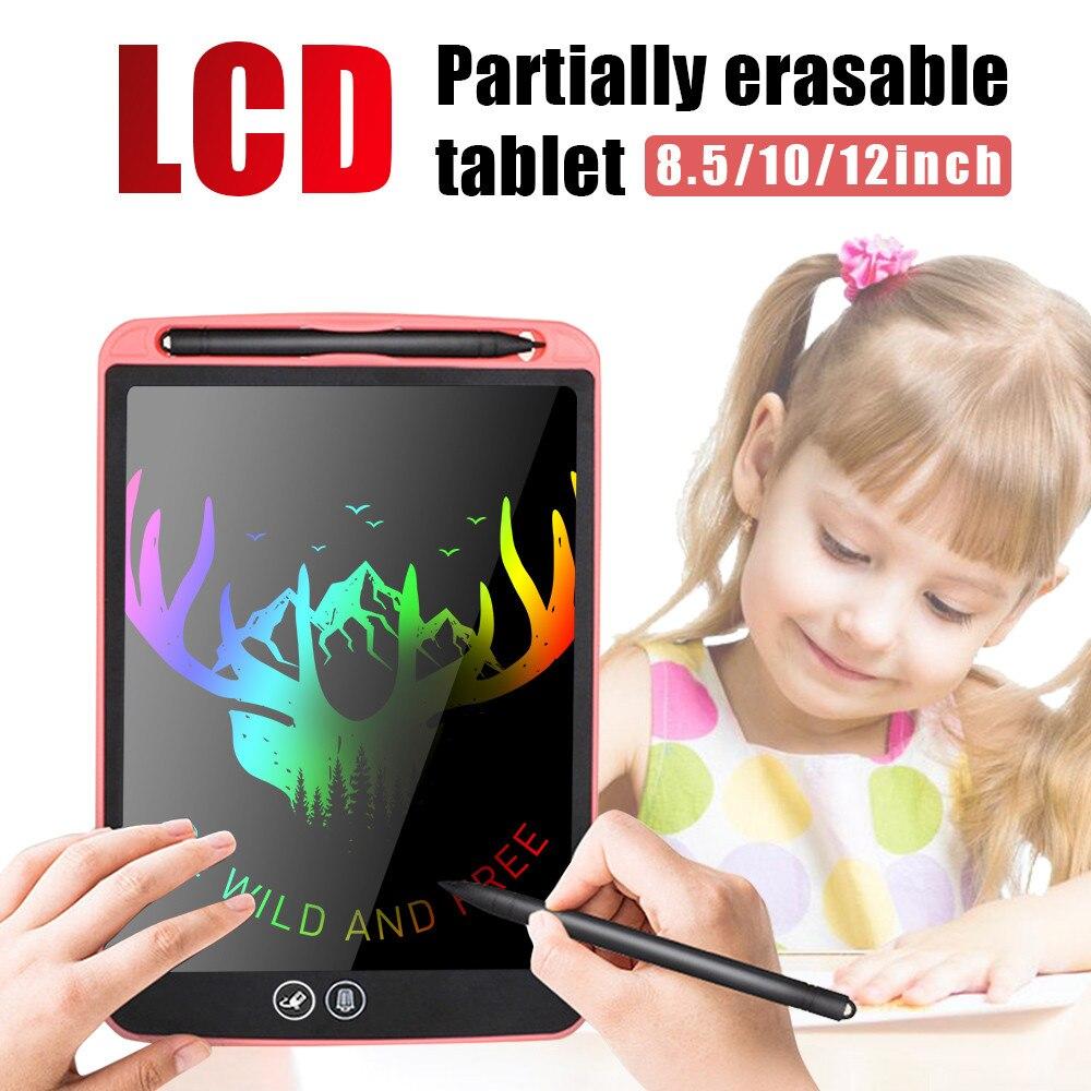 חדש 12 ''LCD הכתיבה באופן חלקי מחיקה ציור לוח אלקטרוני עבה עט המדגיש רפידות דיגיטלי טבליות עם סוללה