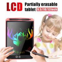 Nouvelle tablette d'écriture LCD 12 ''effaçant partiellement la planche à dessin électronique stylo épais mettant en évidence les tablettes numériques avec batterie