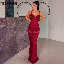 ערב הסעודית פנינים ואגלי פורמליות שמלת ערב שמלות 2020 חדש Aibye סדרת ילדה שמלת חלוק דה Soiree המפלגה לנשף שמלה