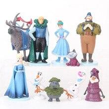 10pcs/set New ice and snow 2 model toy Elsa Queen Anna Princess Snow Bao Prince decoration ornaments