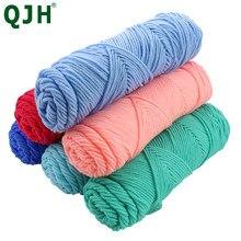 100 グラム/ピース軟質天然シルクミルク綿糸太糸ニット恋人スカーフニットウール編み糸織り糸
