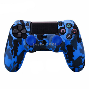 Image 3 - PS4 Camouflage Silicone Skin Protective Case чехол Cover for Sony Playstation 4 Controller for Dualshock 4 Slim Pro Gamepad