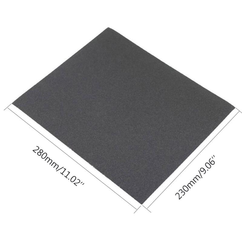 100/240/400/600/1000/2000 Grit Aluminium Oxide Wet & Dry Abrasive Sanding Paper 40JE
