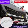 QCBXYYXH автомобильный Стайлинг ABS 4 шт. блёстки для Toyota Camry 2017 2018 хромированные дверные боковые тела формовочная линия комплекты для тела Наклад...