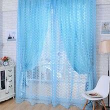 Cortinas de luxo para sala estar do quarto cozinha tule para janelas fios voile cortinas painel janela tratamentos
