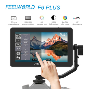 FEELWORLD F6 PLUS 4K Monitor 5.5 Inch on Camera DSLR 3D LUT Touch Screen HDMI IPS FHD 1920x1080 Video Focus Assist Field Monitor
