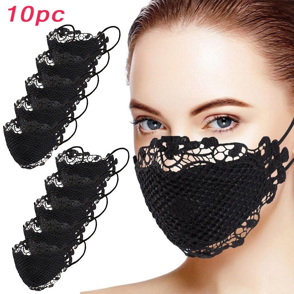 Delicate Lace Applique Masks Fashion Women Lace Reusable Breathable Safe Protection Face Mask Mascar