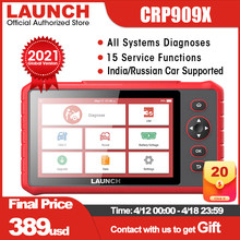LAUNCH X431 CRP909X obd2 car diagnostic scanner professional obd2 scanner airbag SAS TPMS IMMO reset auto code reader crp909 X