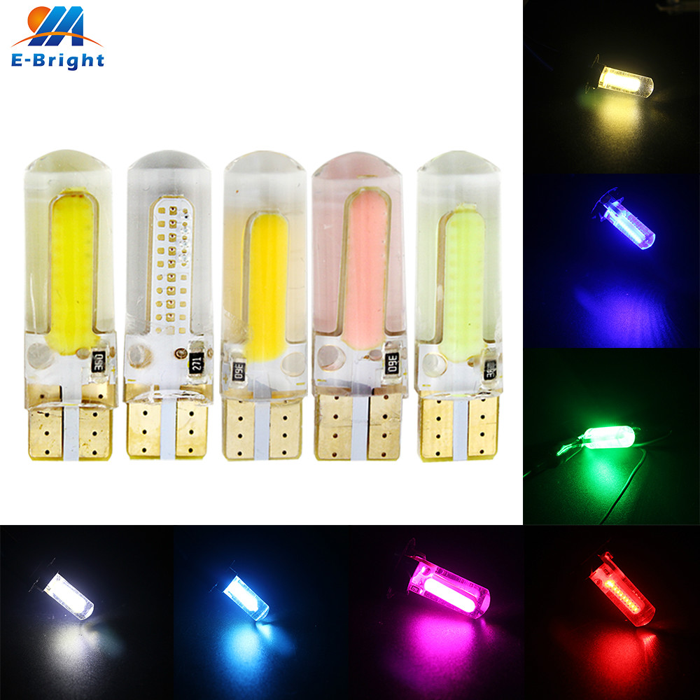 <font><b>100X</b></font> <font><b>T10</b></font> 194 168 W5W COB 20 SMD 200 Lumens Silica Super Bright DC12V Turn Side Door License Plate LED Light Lamp Bulb image