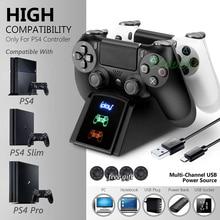 Зарядное устройство PS4/Pro/Slim для контроллеров PS 4, беспроводной джойстик, зарядная док-станция для Playstation Dualshock 4, контроллер