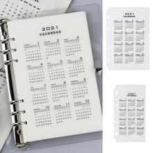 Notebook-Clip Binder Filofax A6 A5 6-Holes Divider Planner Category Leaf Loose V3F5 PP