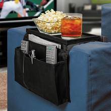 6 bolsos sofá corrimão braço braço resto organizador titular saco de controle remoto no sofá tv corrimao braco resto