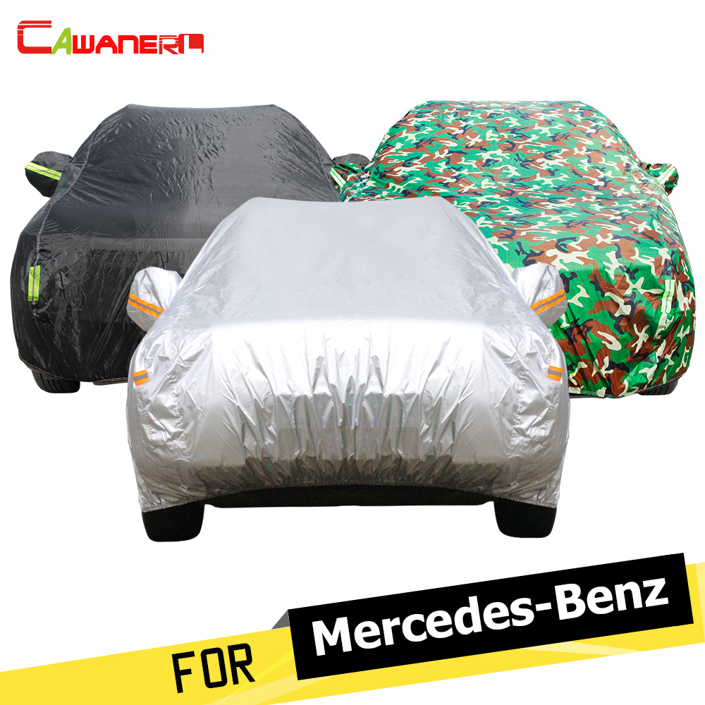 Cawanerl Car Cover Sunshade Anti UV Rain Sun Snow Resistant Cover For <font><b>Mercedes</b></font> Benz <font><b>A140</b></font> A150 A160 A170 A180 A190 A200 A210 A260 image