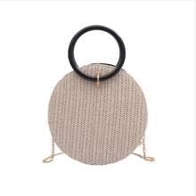 Woven Bag Straw In Womens Totes Handmade Beach Circle Bags For Women New Fashion Rattan Round Handbags Crossbody