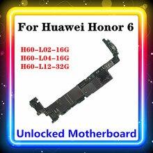 オリジナルhuawei社の名誉6マザーボードH60 L02 16G H60 L04 16G H60 L12 32G名誉6ロジックボード用のメインボードのための6