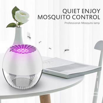 Fotokatalizator wyciszenie lampa przeciw komarom niemowlęta niemowlęta muchy pułapka owad Zapper Led anty lampa odstraszająca komary lampka nocna tanie i dobre opinie oobest ------ HL245730 Brak black white yellow 13 5x13 5x13 5cm 1pcs dropshipping