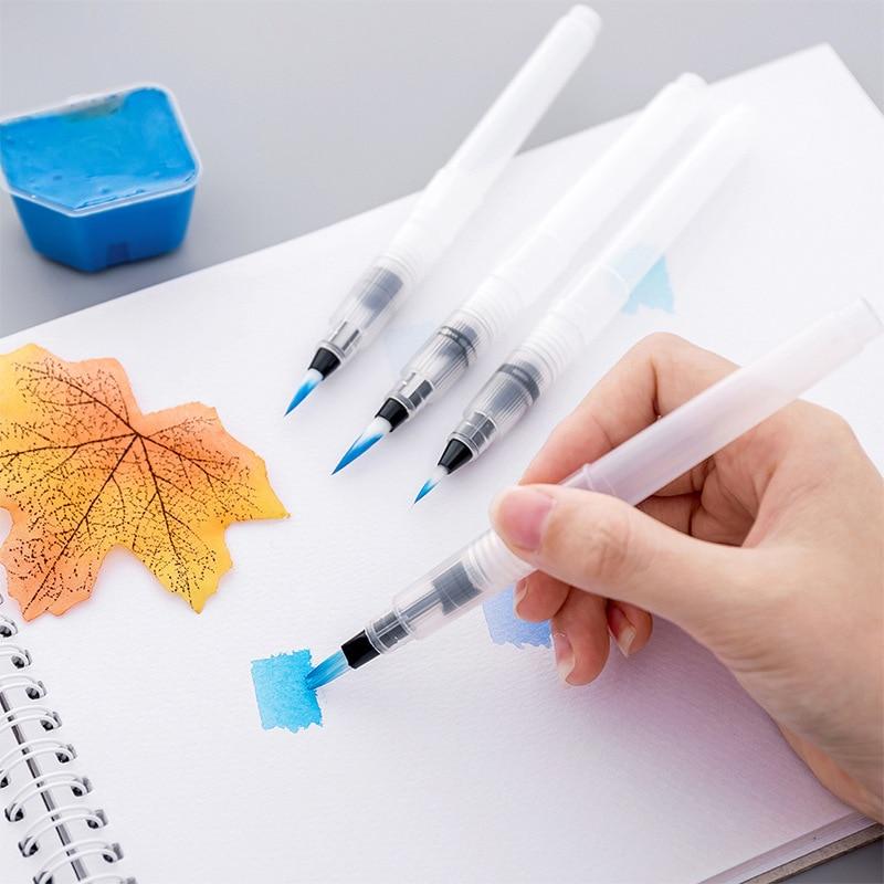 Waterpen Water Soluble Colored Lead Watercolor Brush Brush Art Painting Material Water Storage Pen Beginner Hook Line
