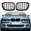Глянцевый черный передний капот решетка для почек гриль ABS двойная линия Совместимость для BMW E39 5-Series 525 528 1995-2004 передний бампер решетка