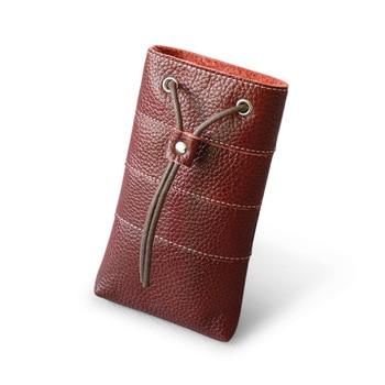 Genuine Leather Women Phone Shoulder Bag Casual Designer Real Leather Phone Crossbody Bag