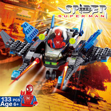133Pcs Super Heroes Spiderman Figures Building Blocks Sets CITY LegoINGLs Star Wars Juguetes DIY Brinquedos Kids Bricks Toys(China)
