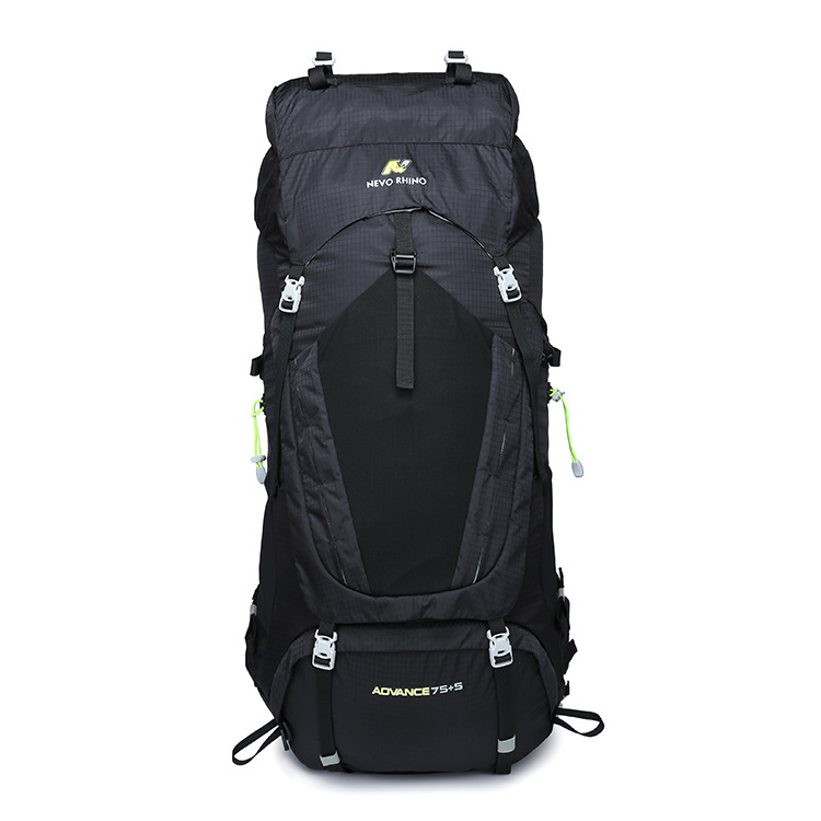 Cross Border New Style 80L Large-Volume Chinlon Waterproof Mountaineering Bag Nylon Casual Sports Hiking Adventure Outdoor Backp