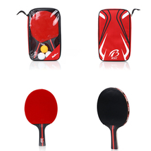 Racket Table-Tennis-Bat Ping-Pong-Paddle Double-Face-Pimples 2pcs with Bag 3-Balls Quality